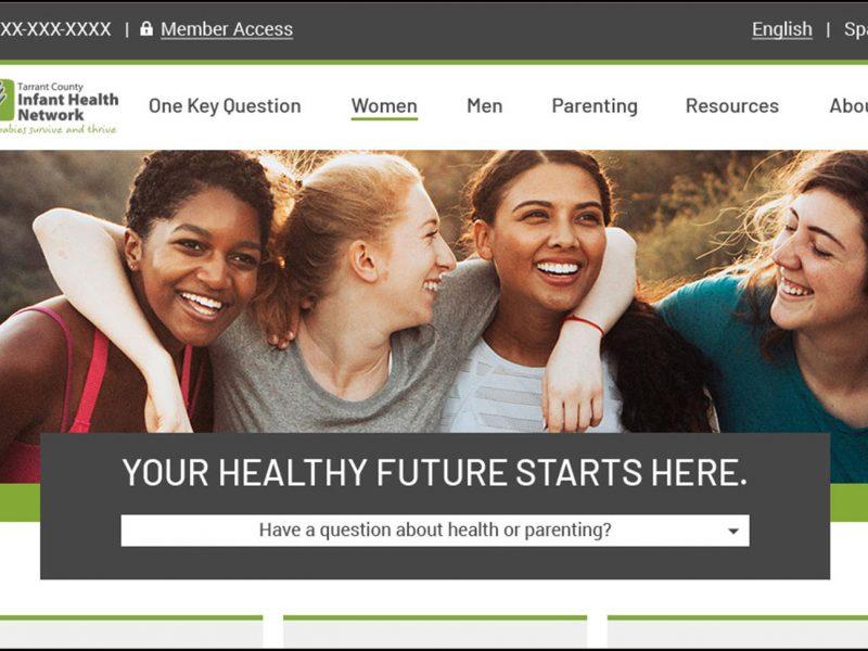 image showing top half of IHN website